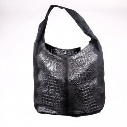 Kabelka kožená shopper Julies choice Coccodrillo vp030 černá, béžová