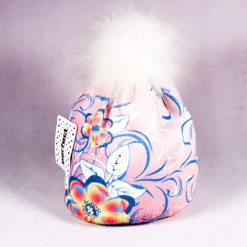 Zimní dětská čepice Isla ZCDE003 růžová