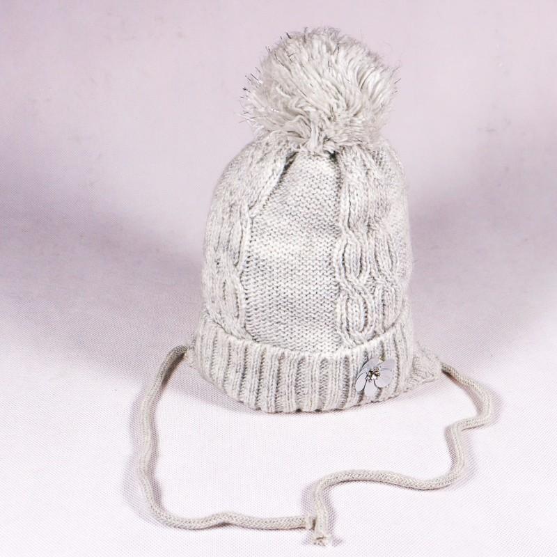 Zimní dětská čepice Stella ZCDE006 růžová, šedá