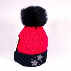 Zimní dětská čepice Bella ZCDE002 růžová