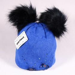 Zimní dětská čepice Alexis ZCDE004 modrá