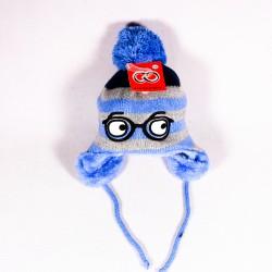 Zimní dětská čepice Harry ZCDE013 modrá