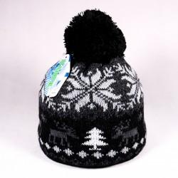 Zimní dětská čepice James ZCDE008 černá, šedá